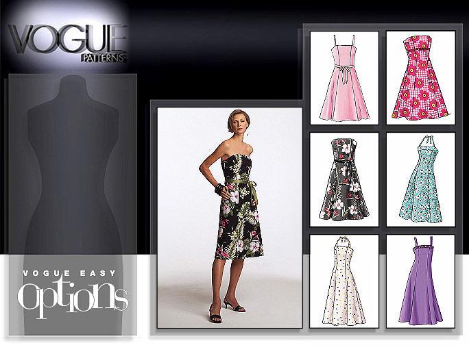 Vogue Patterns MISSES'/MISSES' PETITE DRESS 7848
