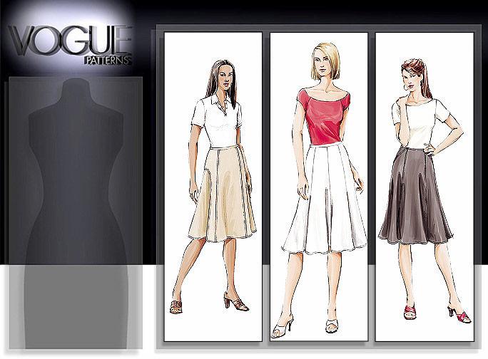 Vogue Patterns MISSES' SKIRT 7910