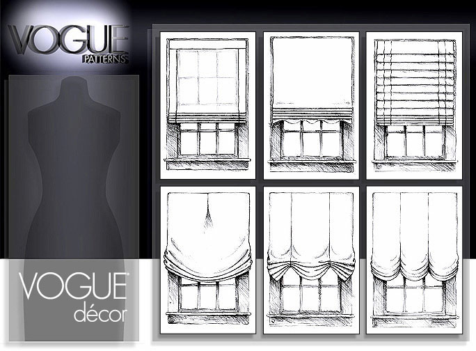 Vogue Patterns WINDOW SHADES 7922