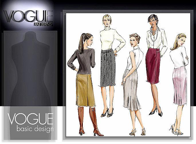 Vogue Patterns MISSES'/MISSES' PETITE SKIRT 7937