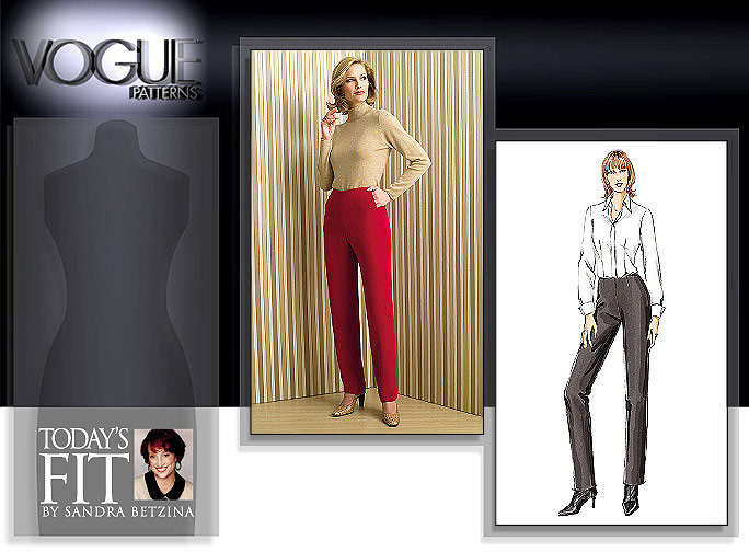 Vogue Patterns Today's Fit flat front pant 7940