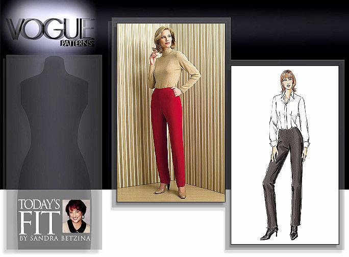Vogue Patterns Today's Fit flat front pant 7940
