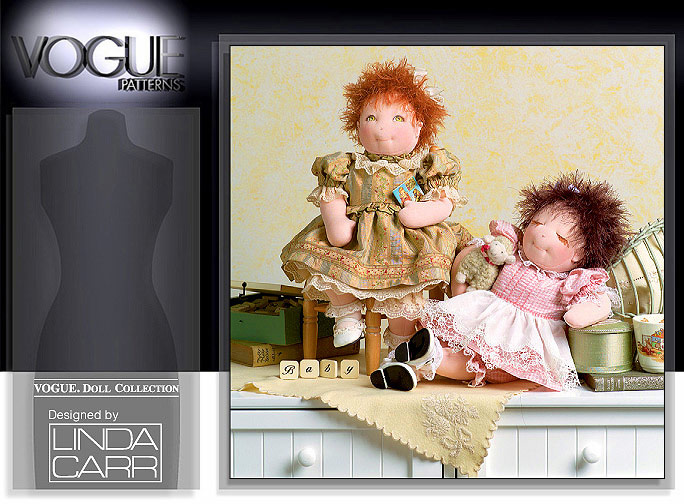 Vogue Patterns 15 inch BABY DOLLS AND CLOTHES 7985