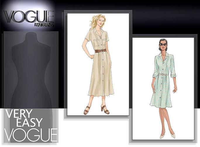 Vogue Patterns MISSES'/MISSES' PETITE DRESS 8021