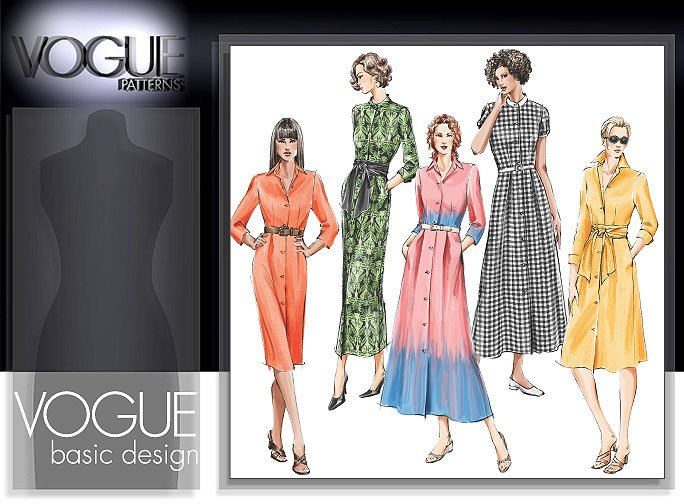 Vogue Patterns MISSES'/MISSES' PETITE DRESS AND SASH 8028