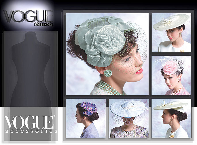 Vogue Patterns MISSES' VINTAGE HATS 8052