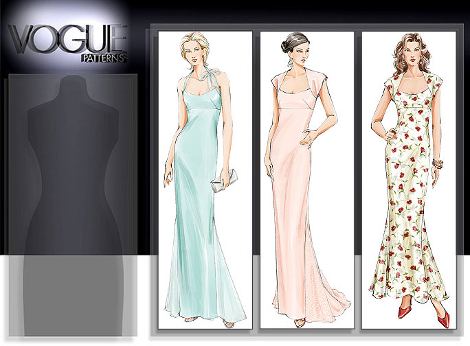 Vogue Patterns MISSES' DRESS 8076