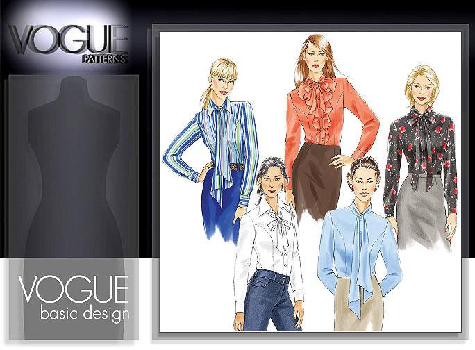 Vogue Patterns Misses' Petite Shirt and Tie 8119