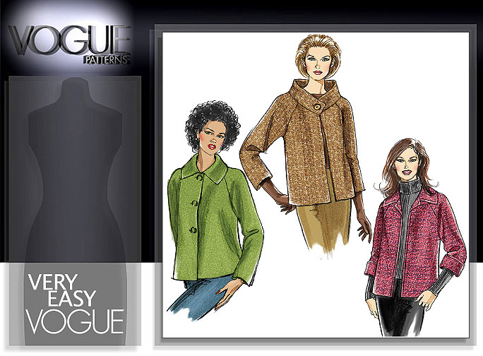 Vogue Patterns MISSES' JACKET 8123