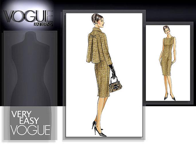 Vogue Patterns MISSES'/MISSES' PETITE JACKET AND DRESS 8146