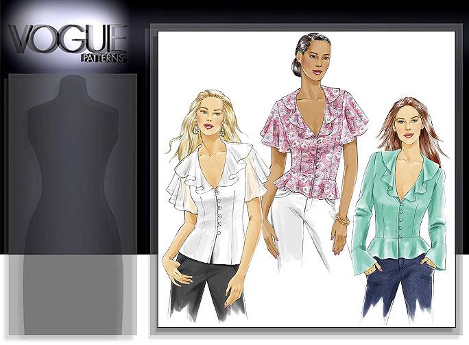 Vogue Patterns MISSES' TOP 8194