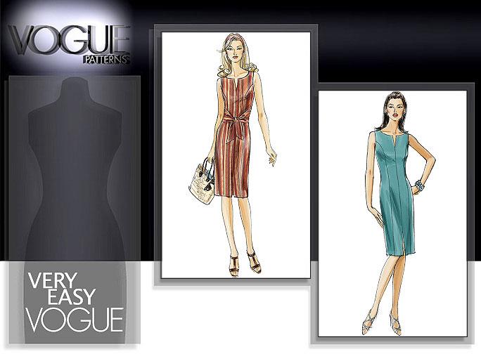 Vogue Patterns Missess Sleeveless Dress 8228