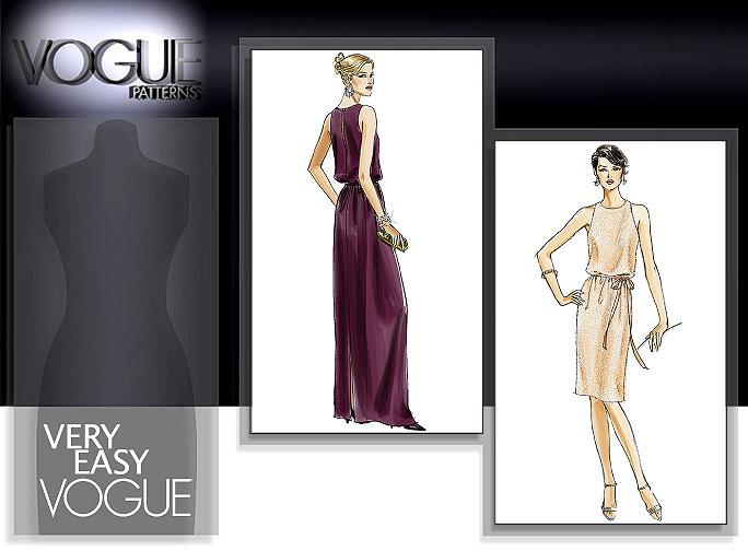 Vogue Patterns MISSES'/MISSES' PETITE DRESS AND BELT 8241