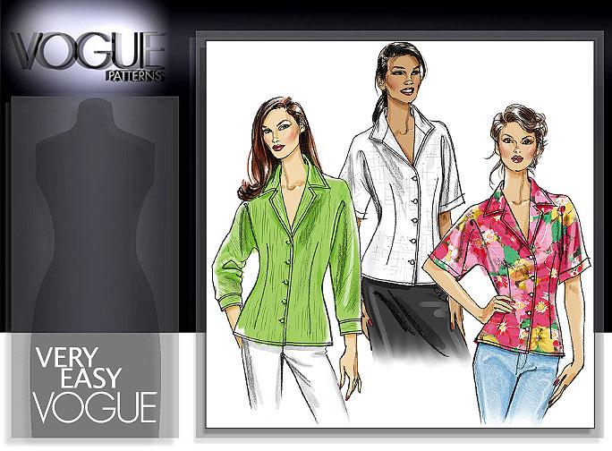 Vogue Patterns MISSES'/MISSES' PETITE SHIRT 8248