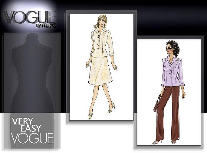 Vogue Patterns MISSES'/MISSES' PETITE JACKET, SKIRT AND PANTS 8262