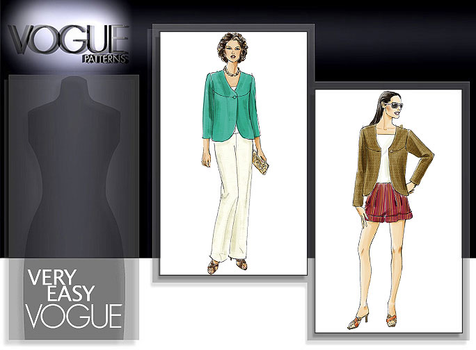 Vogue Patterns MISSES' JACKET, SHORTS AND PANTS 8263