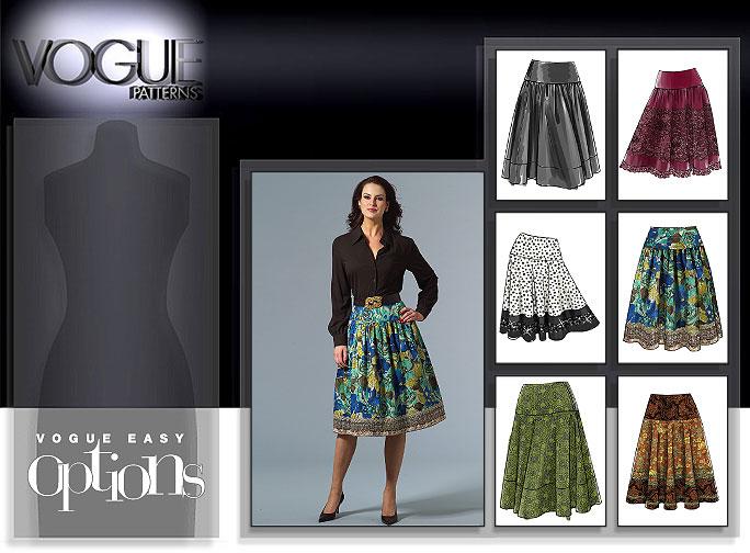 Vogue Patterns MISSES'/MISSES' PETITE SKIRT 8295