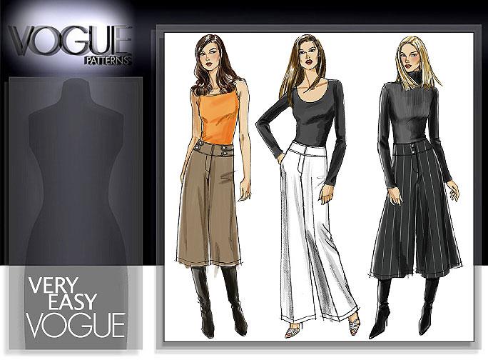 Vogue Patterns MISSES'/MISSES' PETITE PANTS AND GAUCHO 8298