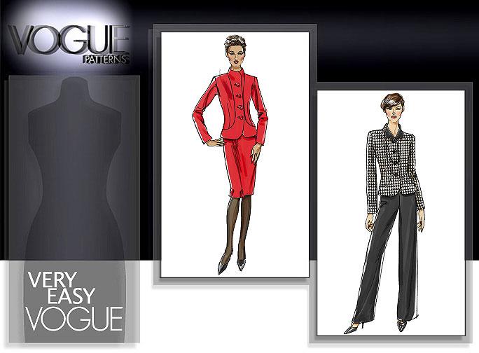 Vogue Patterns MISSES'/MISSES' PETITE JACKET, SKIRT AND PANTS 8302