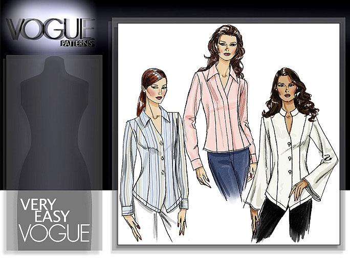 Vogue Patterns MISSES'/MISSES' PETITE SHIRT 8322