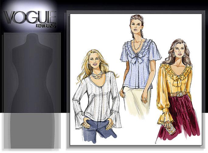 Vogue Patterns MISSES' BLOUSE 8324
