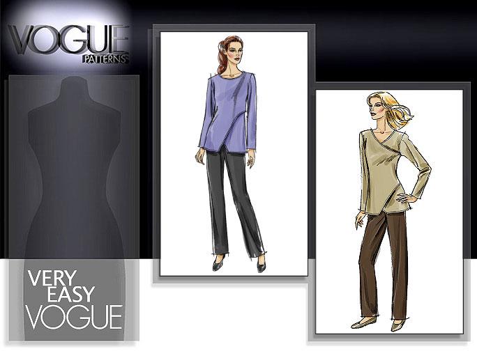 Vogue Patterns MISSES'/MISSES' PETITE TUNIC AND PANTS 8335