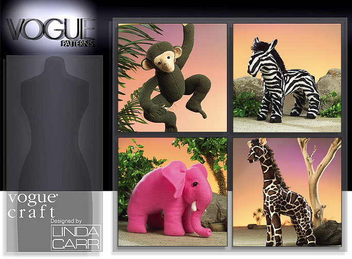 Vogue Patterns STUFFED ANIMALS 8349