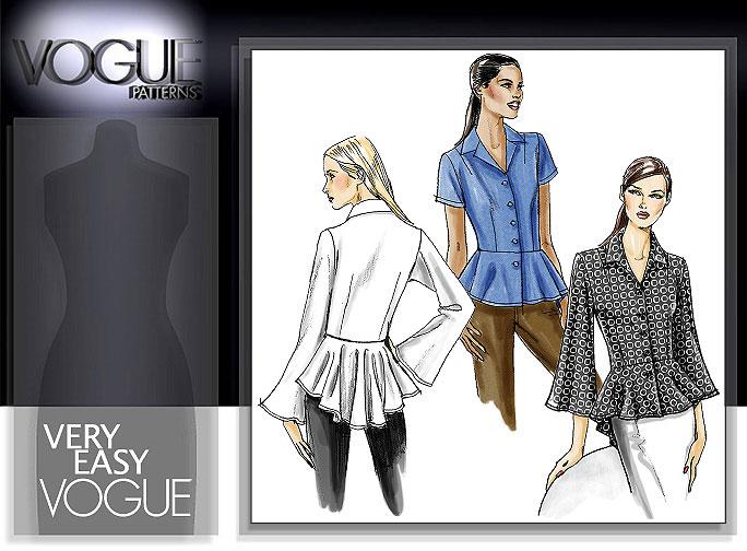 Vogue Patterns MISSES'/MISSES' PETITE BLOUSE 8362