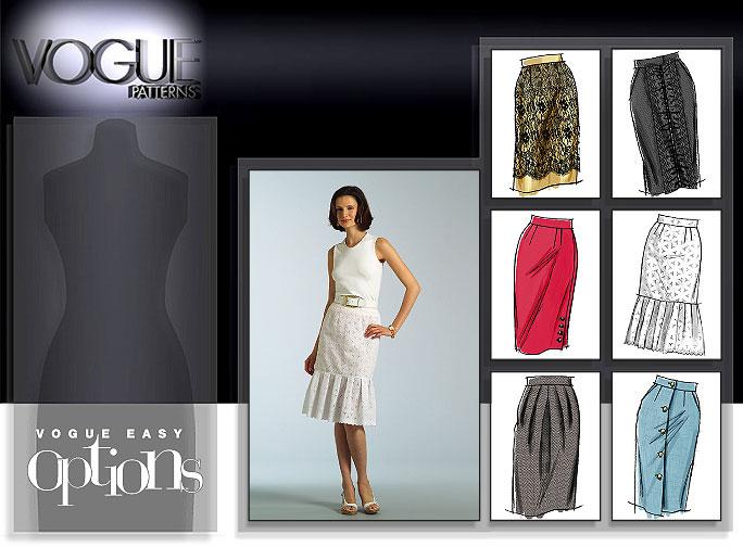 Vogue Patterns MISSES' SKIRT 8363