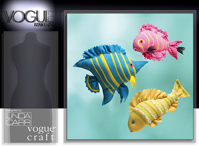 Vogue Patterns STUFFED TROPICAL FISH 8377