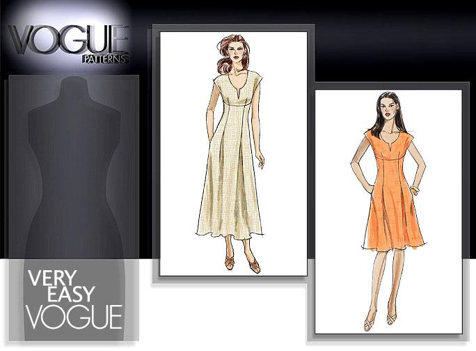 Vogue Patterns MISSES'/MISSES' PETITE DRESS 8382