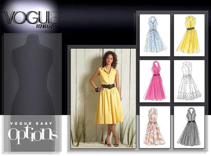 Vogue Patterns MISSES'/MISSES' PETITE DRESS AND TIE BELT 8383