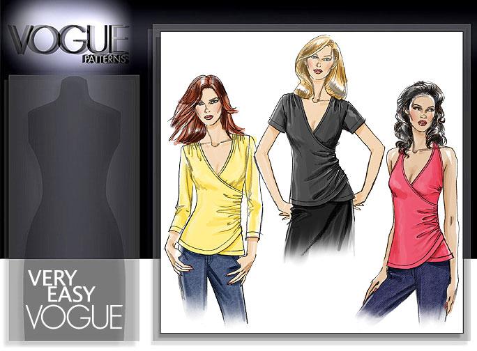 Vogue Patterns MISSES' TOP 8390