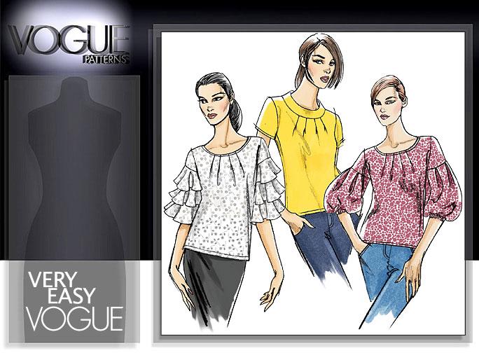 Vogue Patterns MISSES'/MISSES' PETITE TOP 8392