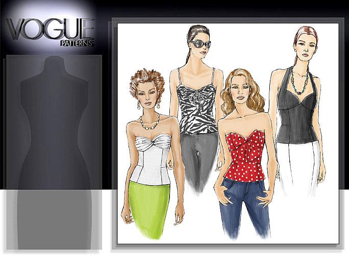 Vogue Patterns MISSES' TOP 8393