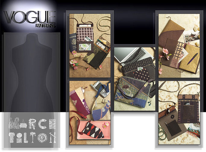 Vogue Patterns BAGS, EYEGLASS CASE AND JOURNAL COVER 8407
