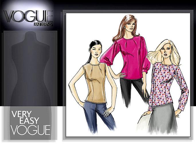 Vogue Patterns MISSES' TOP 8419