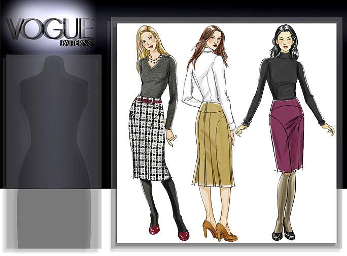 Vogue Patterns MISSES'/MISSES' PETITE SKIRT 8426