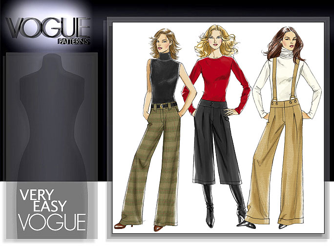 Vogue Patterns MISSES' GAUCHOS AND PANTS 8427
