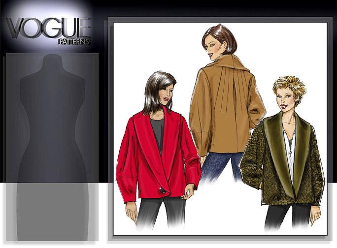 Vogue Patterns MISSES' JACKET 8431