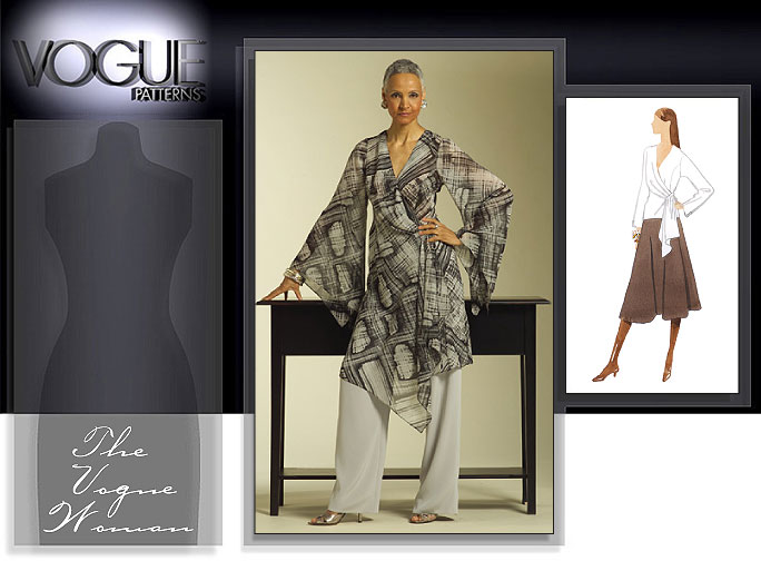 Vogue Patterns MISSES' TOP, TUNIC, SKIRT AND PANTS 8434