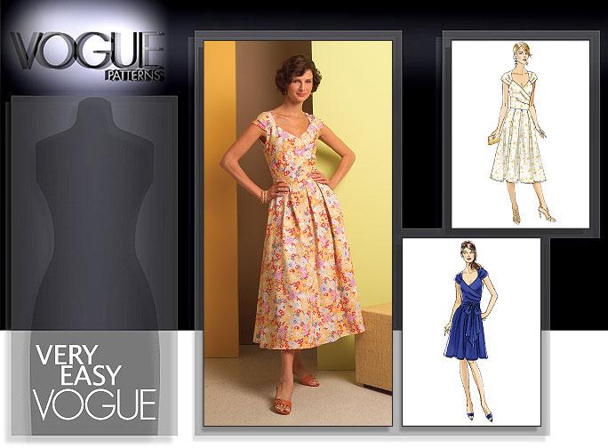 Vogue Patterns MISSES' DRESS AND SASH 8446