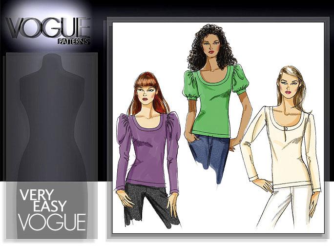 Vogue Patterns MISSES'/MISSES PETITE TOP 8451