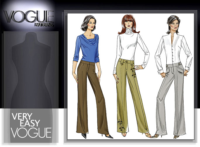 Vogue Patterns MISSES' PANTS 8456