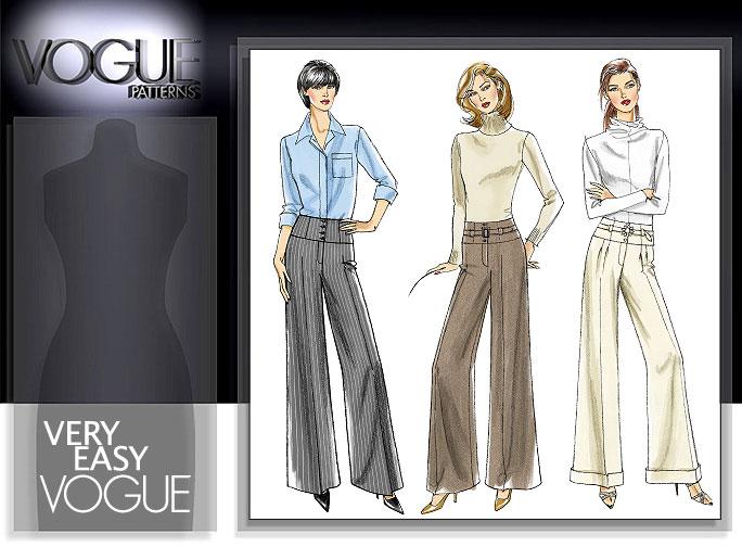 Vogue Patterns MISSES' PANTS AND BELT 8457
