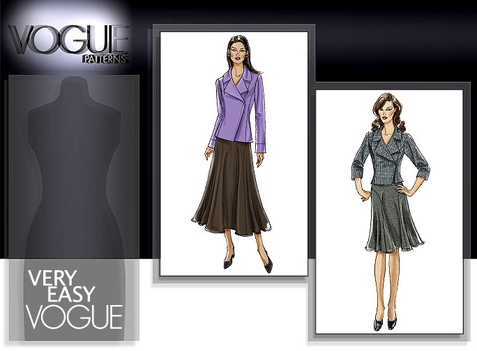 Vogue Patterns MISSES'/MISSES' PETITE JACKET AND SKIRT 8461