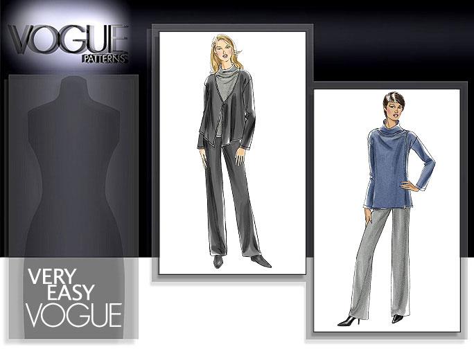Vogue Patterns MISSES'/MISSES' PETITE JACKET, TOP AND PANTS 8462