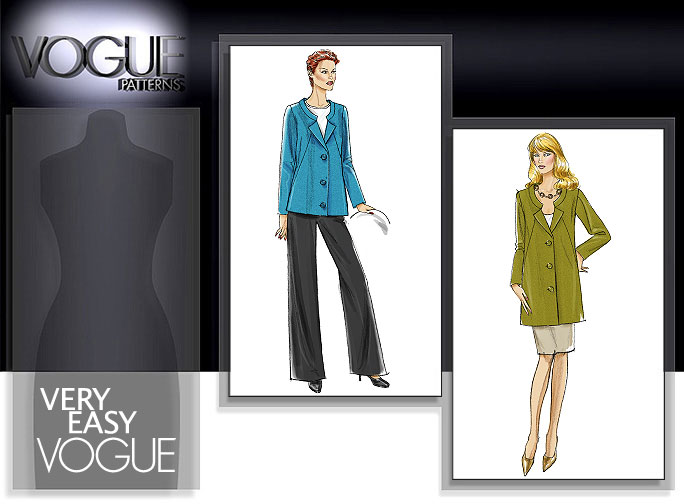 Vogue Patterns MISSES' JACKET, SKIRT AND PANTS 8464