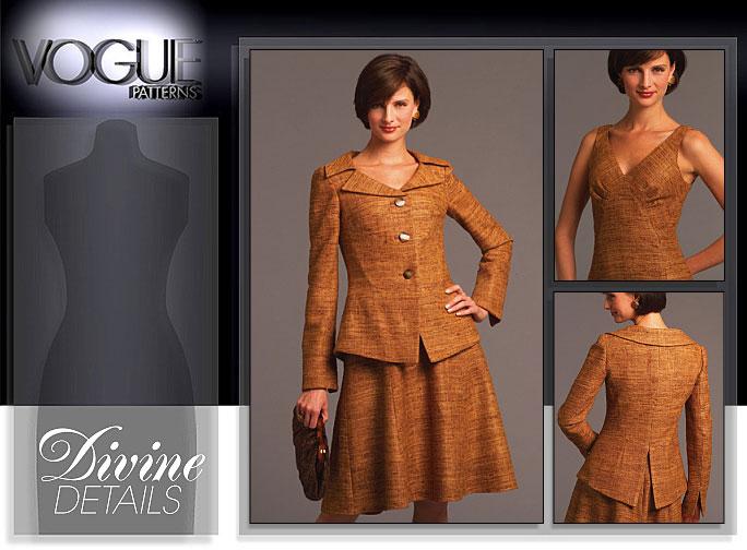 Vogue Patterns MISSES' JACKET AND DRESS 8473