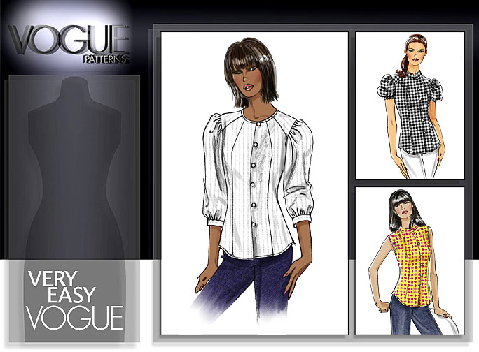 Vogue Patterns MISSES'/MISSES' PETITE SHIRT 8476